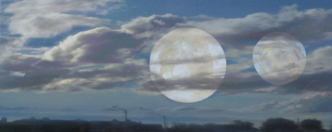 But Clouds Got In My Way >> Two Moons dreams | earthengirl