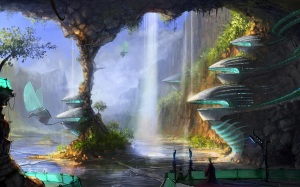 waterfall-city-fantasy-wallpaper-1920x1200-1312