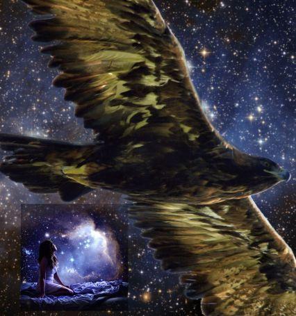 drean and deep space golden eagle sm Spider Grandmother Reminder