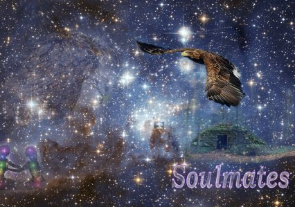 dancing bird goddess and golden eagle soul mates