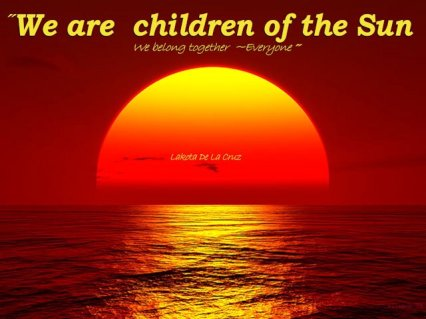 Our Star  We are Children of the Sun