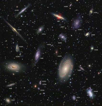 sky full of galaxies