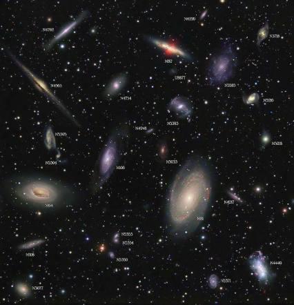 sky full of galaxies