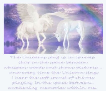 when the unicorn sings I hear chimes ringing