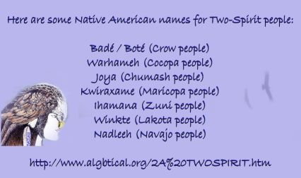 Two Spirit names
